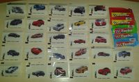 65 different wrappers Bubble Gum TURBO SPORT Fast New Rare!