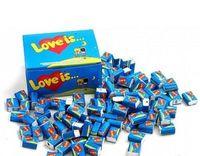 1 Box Bubble gum Love is - Strawberry + Banana /клубника и банан (Turkey) + International sending Registred Paket witch Track Number - very tasty!!!-
