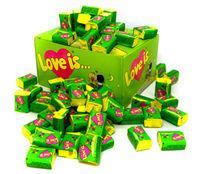 1 Box Bubble gum Love is - Apple and lemon /яблоко и лимон (Turkey) + International sending Registred Paket witch Track Number - very tasty!!!-