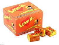 1 Box Bubble gum Love is - Orange and pineapple /апельсин и ананас (Turkey) + International sending Registred Paket witch Track Number - very tasty!!!-