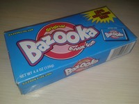Bazooka bubble gum 126g - 28 bubble gum (Made in Mexiko)