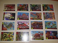 Full series cards Dinosaurs Attack 1988 (55 cards+11Stickers)